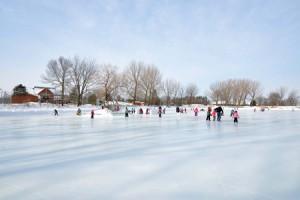 Ouverture de la patinoire sur le lac de la Ville de Sainte-Julie